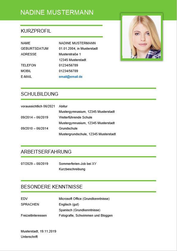My Cv Mein Lebenslauf On Behance Desain Cv